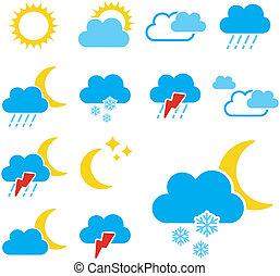 állhatatos, szín, -, jelkép, aláír, vektor, időjárás, ikon