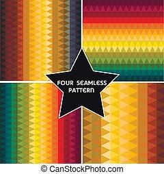 állhatatos, színes, elvont, négy, háttér., geometriai