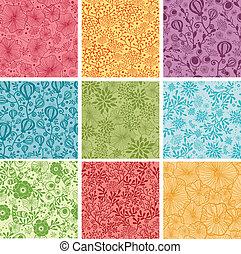 állhatatos, színes, háttér, seamless, példa, kilenc, menstruáció
