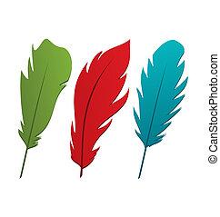 állhatatos, színes, horgol, elszigetelt, háttér, fehér