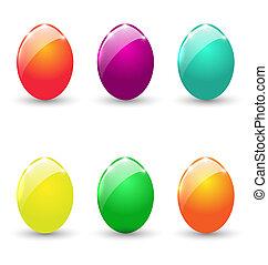 állhatatos, színes, ikra, elszigetelt, háttér, fehér, húsvét