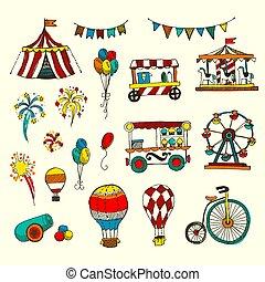 állhatatos, szórakozottan firkálgat, cirkusz, elszigetelt, alapismeretek, fehér