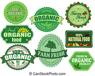 állhatatos, szerves, tanya, elnevezés, élelmiszer, friss, jelvény