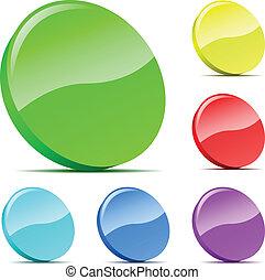 állhatatos, szilánk, icons., sokszínű, vektor, 3
