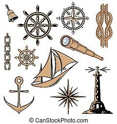 állhatatos, tenger, ikonok