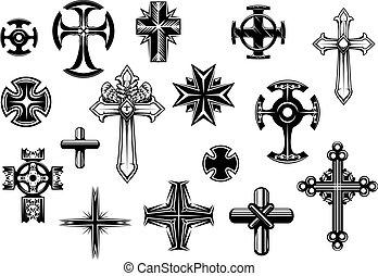 állhatatos, vallásos, keresztbe tesz
