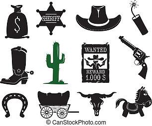 állhatatos, western, ikonok