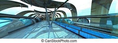állomás, aluljáró, futuristic