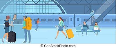 állomás, mozgó szerkezetek, vasút