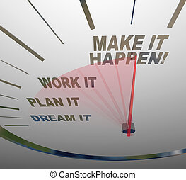 álmodik, csinál, munka, azt, börtön, terv, happen, sebességmérő, elér