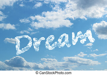 álmodik, szó, felhő