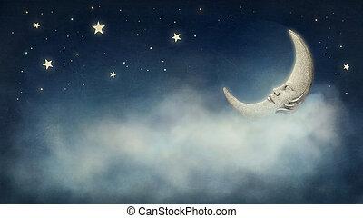 álmodozó, éjszaka
