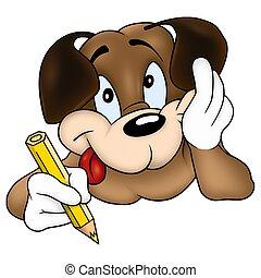 álmodozó, kutya, szobafestő