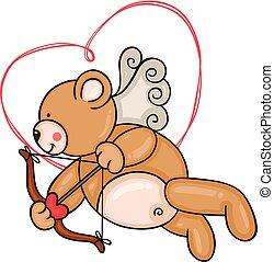 ámor, hord, teddy-mackó
