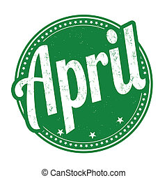 április, bélyeg