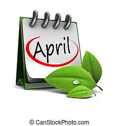 április, naptár