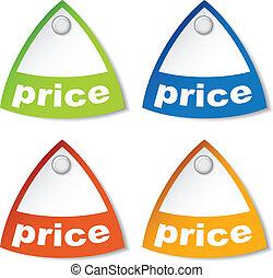 ár, vektor, címke