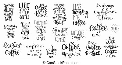 árajánlatot tesz, csésze, kávécserje letesz, nyomdászat