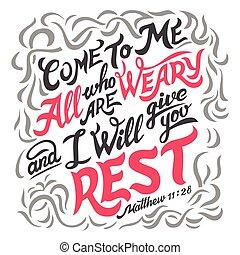 árajánlatot tesz, unalmas, minden, biblia, jön, én