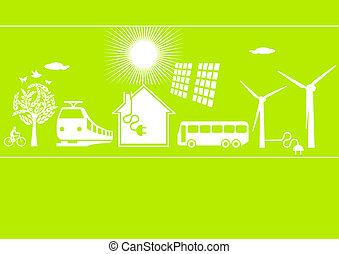 áram, ökológia, elektromos