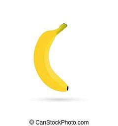 árnyék, banán, ikon