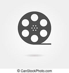 árnyék, cséve, film, ikon