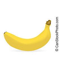 árnyék, csepp, banán