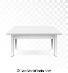 árnyék, hivatal, elszigetelt, ábra, háttér., vektor, asztal, fehér, áttetsző