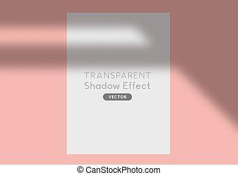 árnyék, vektor, árnykép, hatás, beborítani