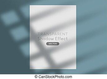 árnyék, vektor, árnykép, hatás, háttér