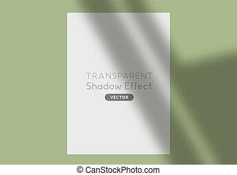 árnyék, vektor, áttetsző, hatás