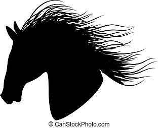 árnykép, black ló