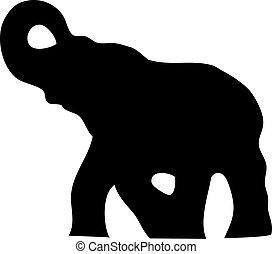 árnykép, elefánt