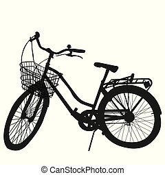 árnykép, fehér, bicikli, háttér