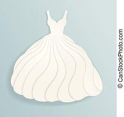 árnykép, finom, dolgozat, esküvő, white ruha