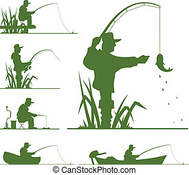 árnykép, halász