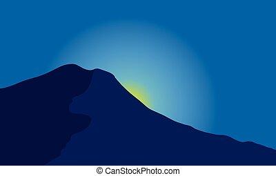 árnykép, hegy