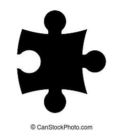 árnykép, rejtvény, vektor, ikon, jelkép, design.