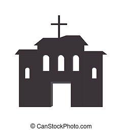árnykép, templom