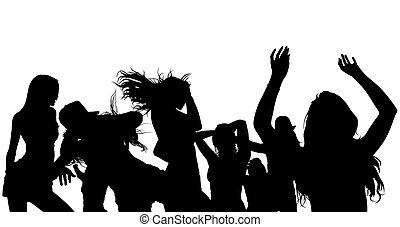 árnykép, tolong, tánc