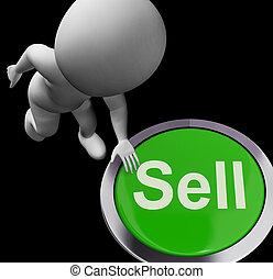 árul, eladás, ügy, gombol, értékesítések, látszik