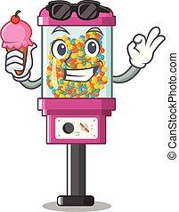 árul, jég, gép, cukorka, karikatúra, krém