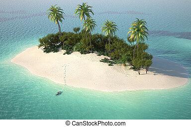 átáll sziget, kilátás, antenna, caribbeanl