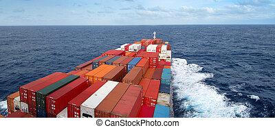átkelés, óceán, hajó tároló
