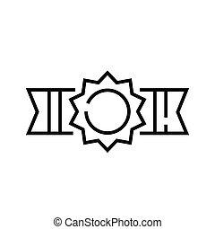 áttekintés, egyenes, öv, vektor, aláír, jelkép., lineáris, ábra, fogalom, ikon, bajnok