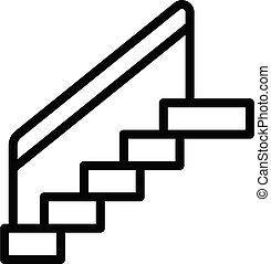 áttekintés, lépcsősor, mód, ikon