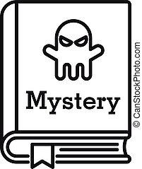 áttekintés, mód, könyv, ikon, rejtély, öreg