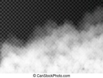 áttetsző, dohányzik, elszigetelt, fehér, vagy, köd, háttér.