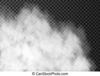 áttetsző, elszigetelt, sötét, fehér, köd, háttér.
