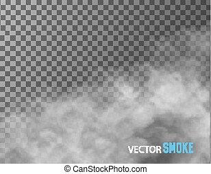 áttetsző, vektor, háttér., dohányzik